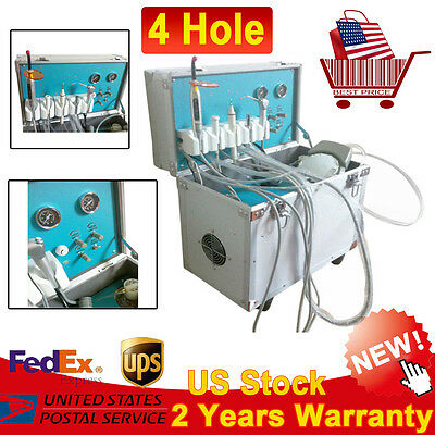 New Mobile Dental Delivery Cart Unit+N1 Ultrasonic Scaler Handpiece+Curing Light