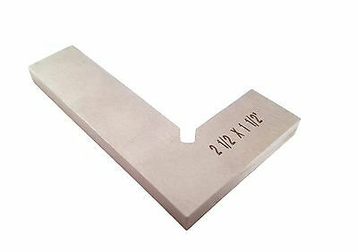 "Taytools Machinist Solid Square 2.5 "" DIN 875/0 (Square w/in 0.0003"") Stainless"
