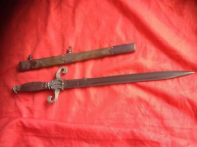 Wonderful Spanish Antique Toledo Dagger with Scabbard and Beautiful Decorations