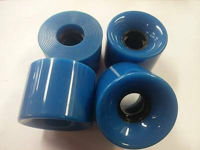 SKATEBOARD WHEELS (4) FITS MOST BOARDS/TRUCKS. Blue