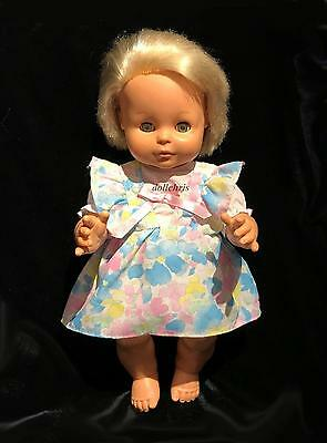 """Vintage Fisher Price Doll Anatomically Correct Girl 14""""Open Close Eyes 1982 RARE"""