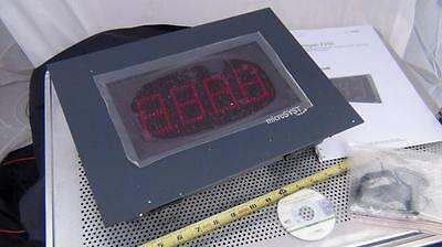 MicroSyst Migan FI/SI Large Numeric LED Display w/ Ethernet / Profibus - NEW
