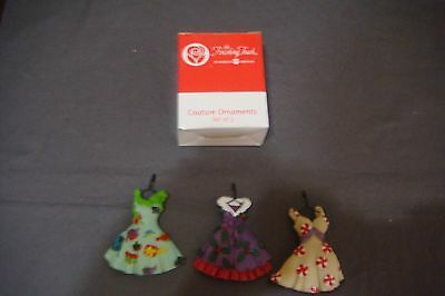 NEW The Finishing Touch American Greetings set of 3 COUTURE CHRISTMAS ORNAMENTS
