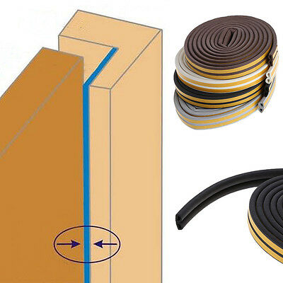 5m Self Adhesive D Type Doors For Windows Seal Strip Avoidance Collision New