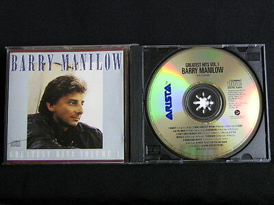 Barry Manilow. Greatest Hits Volume 1. Compact Disc.