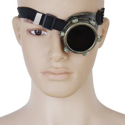 Steampunk Goggle Monocle Eye Biker Glasses Cyber Gothic welding Party Cos