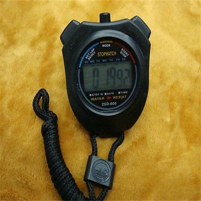 Handheld Digital LCD Chronograph Sports Counter Stopwatch Counter Timer Watch W-