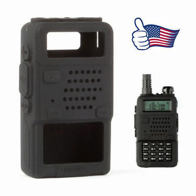 Two-way Radio Rubber Softcase for Baofeng UV-5R A/Plus 82L GT-3 888s Black US