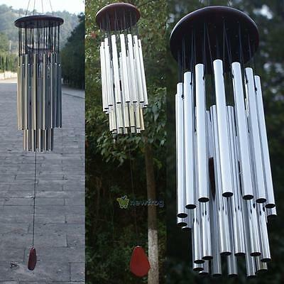 New Outdoor Living Wind Chimes Yard Garden Tubes Bells Copper 27 Tubes Silver