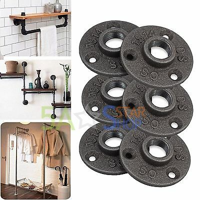 """10pcs 1/2""""Malleable Thread Floor Flange Iron Pipe Fittings Wall Mount Industrial"""
