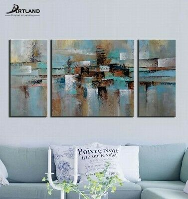 "Large Framed Modern Abstract Oil Painting Canvas Wall Art ""Abstract Tone""60x30''"