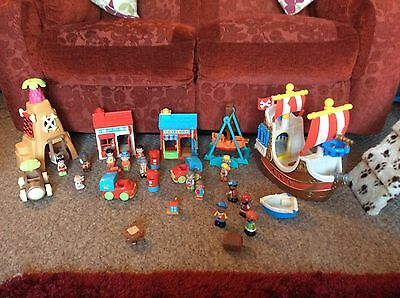 Elc Early Learning Centre Huge Happyland Play Set & Figures Toy,pirate Ship Etc