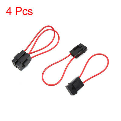 4Pcs Universal Plastic Red Black Wiring Fuse Holder Box Block for Motorcycle Car