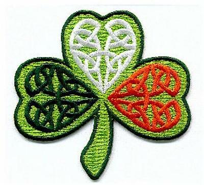 Irish Shamrock Tricolor Ireland Embroidered Patch Crest Badge - Ireland