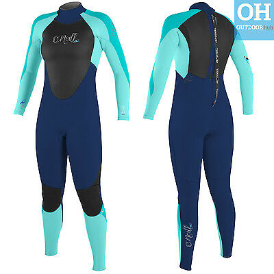 O'Neill Womens Epic 3/2mm Wetsuit Full Length 3mm Wet Suit Ladies Surf Kayak