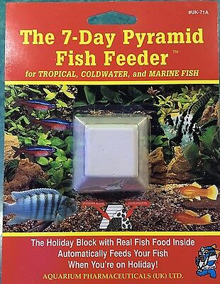 7 Day API Pyramid Fish Weekend Holiday Vacation Food Aquarium Fishtank Tropical