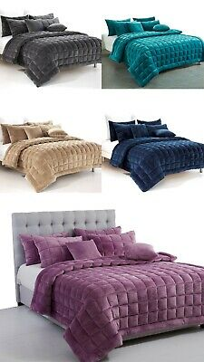 New Plush Faux Mink Augusta Quilt Set | Coverlet Set | Comforter or Cushion
