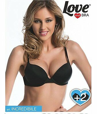 Reggiseno Super Push Up Imbottito +2 Taglie Love and Bra Modello Incredibile