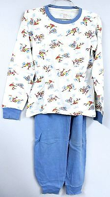 VTG 50s Dr. Denton Boys Pajamas Cotton Knit Hockey Print Christmas Story Look M