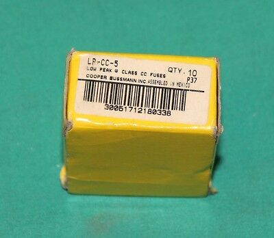 Cooper Bussmann LP CC 5 5 Amp 5a Low Peak new lot bussmann lp cc 5 lpcc 5 amp fuses low peak class cc 600v  at gsmx.co