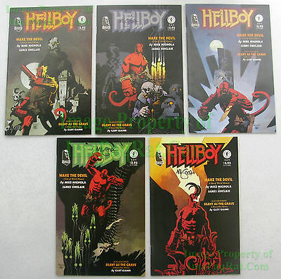 HELLBOY Wake The Devil  #1 2 3 4 5 ALL SIGNED Mike Mignola 1st Prints Complete