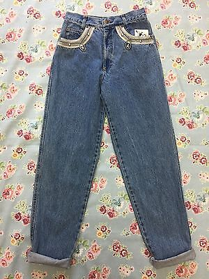 ROCCOBAROCCO VINTAGE MOM JEANS HIGH WAISTED 90s MID BLUE (j29) W26 L30.5 SIZE 8