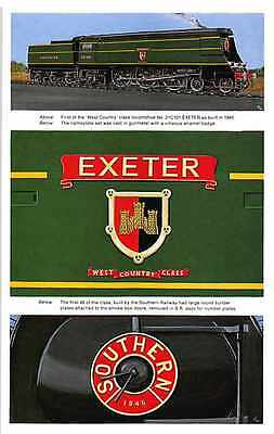 West Country Class Locomotives Dalkeith Postcard Set Exeter Bude Seaton QF.459