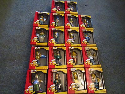 Simpsons Christmas Ornaments 18 Pieces W/boxes 2000/2001