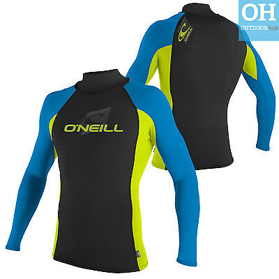 O'Neill Youth Skins Rash Vest Long Sleeve Turtleneck Junior Kids Boys Surf Kayak