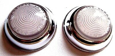 Pair Lucas 489 Side Light Lenses Mint. L489-1 Landrover Austin Morris UK SELLER