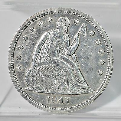 1847 Liberty Seated Dollar - Unc Details (#6619)