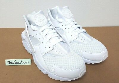 Nike Air Huarache Triple White-Pure Platinum 318429 111 Run Running OG Retro NEW