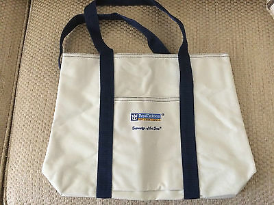 Royal Caribbean Sovereign Of Seas Cruise Line Logo Tote Canvas Beach Bag NWOT
