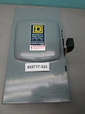 Square D D-323N 100 Amp 240 VAC Type 1 Fusible Safety Switch