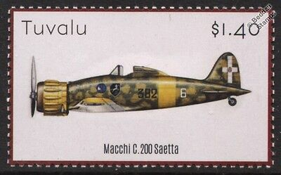 Aeronautica Macchi C.200 SAETTA (Arrow) Italian WWII Fighter Aircraft Stamp