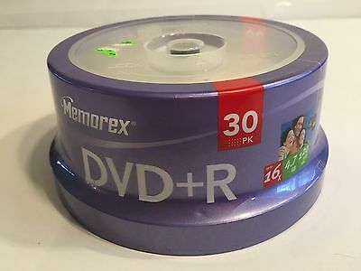 Memorex DVD+R 4.7GB 16x 120min Video - 30pk Spindle Sealed