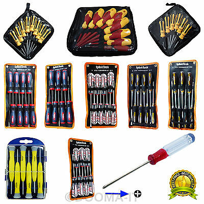 Heavy Duty Soft Grip Magnetic Tip Phillips Torx Ratchet Screwdriver Tool Set DIY