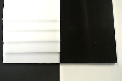 Acetal Flat Black White Engineering Plastic Sheet 2mm-12mm Thick,Various Lengths