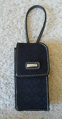 Nine West Black Cell Phone Organizer Credit Card Identification Clutch Case EUC