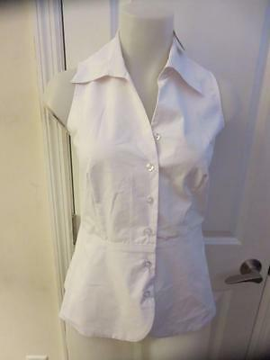 Nwt Womens Pure Amici White Button Down Top Size Xs