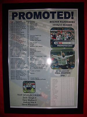 Bolton Wanderers League One runners-up 2016-17 2016-17 - framed print