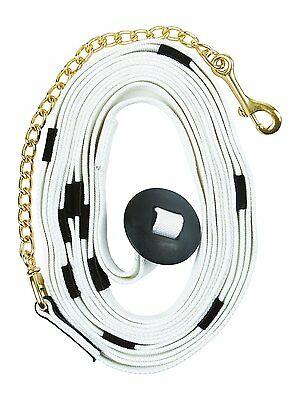 Kincade Cotton Web Lunge Line With Chain And Donut End White 26'