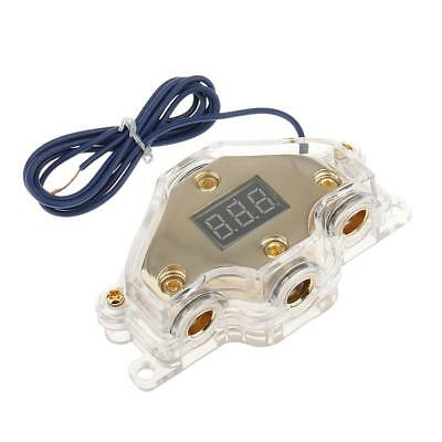 Ground/Power Distribution Block for Car Audio Amplifiers With Voltmeter