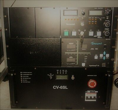 TEMESCAL CV-6SL POWER SUPPLY AND HV-GUN CNTRL +  SuperSweep 64 with remote
