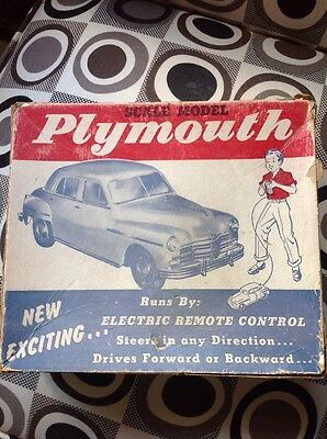 Vintage 1950's  Plymouth Electric Car In Box  Model