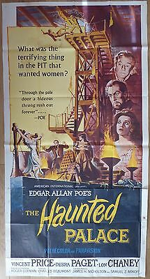 THE HAUNTED PALACE (1963) - US 3 Sheet film/movie poster, horror, Lon Chaney
