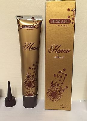 Hemani Henna Tube/ Cone/Pen for Temporary Tattoo 33g. 100% Natural