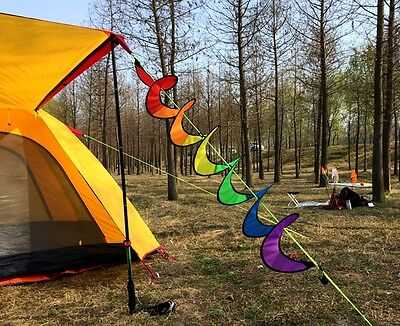 New Spiral Windmill Rainbow Colorful Wind Tent Spinner Garden Home Decorations