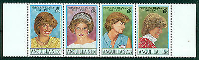 Anguilla Scott # 969, Princess Diana Strip Of 4, Mint, Og, Nh, Great Price!