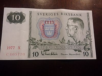 Sweden 10 Kronor, 1977, Uncirculated